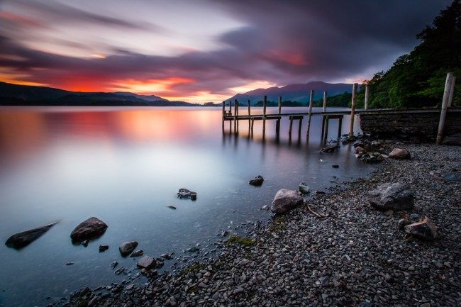 Derwent Water Sunset - The Lake District, UK - 2013